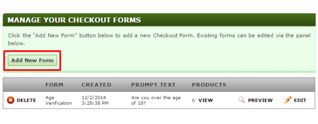 Adding Checkout Forms