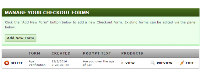 Managing Checkout Forms