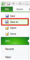 Save a Spreadsheet: Save As