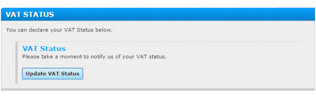 Price Settings: VAT Status