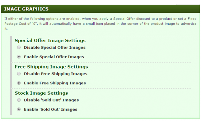 Special Offers Page - Image Graphics