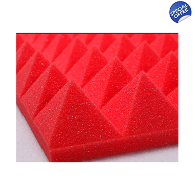 Red Foam Car Sound Insulation NVH Foam 50mm Profiled NVH Foam