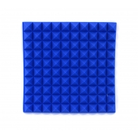 Blue Car Insulation Foam 50mm Blue Profiled Pyramid Foam