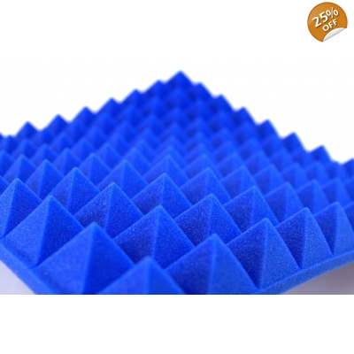 B1 Fire Rated Blue Profiled Insulation Foam 50mm Pyramid S..