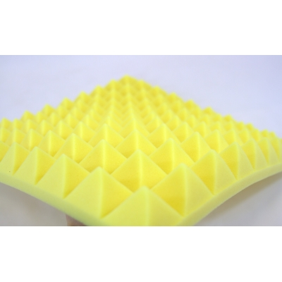 B1 Fire Rated Yellow Profiled Insulation Foam 50mm Pyramid Spike