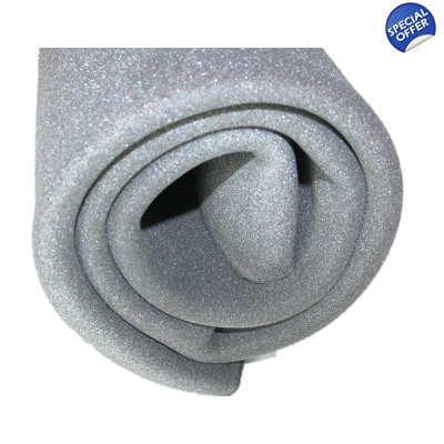 10mm Grey Acoustic Polyurethane Foam Insulation 23Kg Thermal 1m