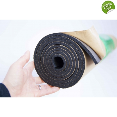 10m Bulk Roll 6mm Self Adhesive Closed Cell Foam Insulation