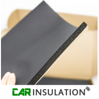 1m Roll 10mm Black Closed Cell Foam Acoustic Thermal Insulation