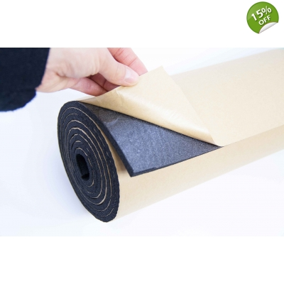 1m2 6mm Adhesive Backed Closed Cell Foam Sound Proofing In..
