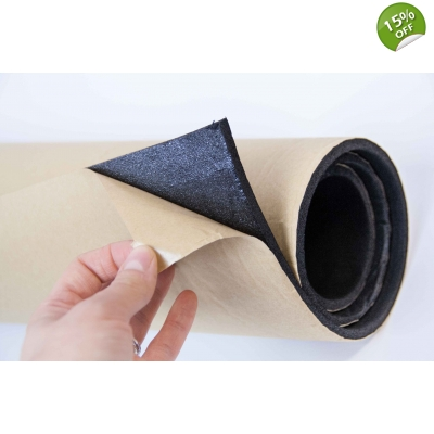 2m x 1m 6mm Self Adhesive Closed Cell Foam Insulation Black