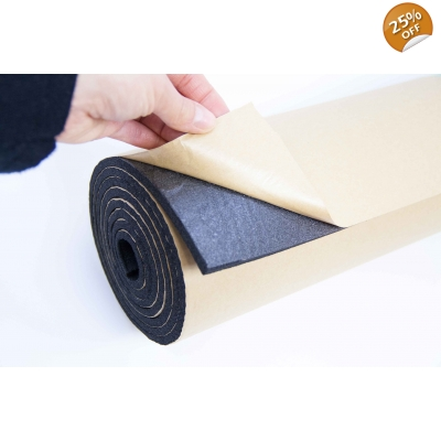 5m Roll 6mm Car Sound Proofing Self Adhesive Closed Cell F..