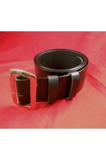 santa claus belt with buckle black solid leather plain 3inch - Santa Claus Belt