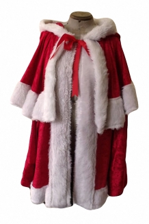 Father Christmas Red Velvet Santa Claus/Xmas Suit/jacket and trousers/faux fur