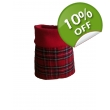 Red Tartan Feather Prot..