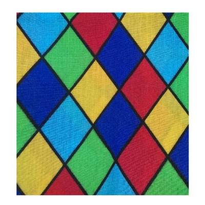 Harlequin coloured Polycotton