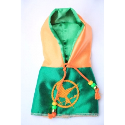 Hunger games peach and green hoody