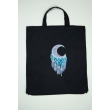 Dream Catcher Embroidered Cotton Bag  Black