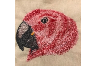 Eclectus Female Embroidered Cotton Bag Natural