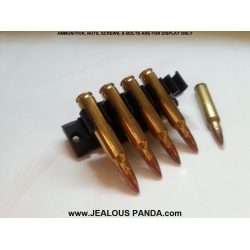 adjustable 5 Round .223 Ammo Holder mounts Picatinny Rail IPSC carrier hunting