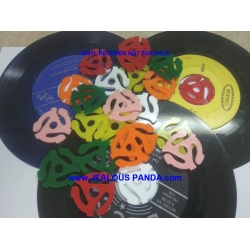4x PLASTIC ADAPTER INSERTS for 45 RPM 7