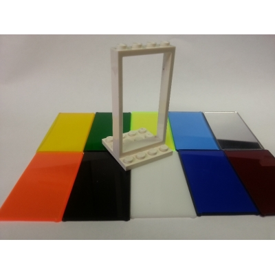 1 x 4 x 6 Lego Window Glass