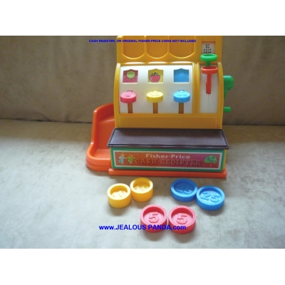 6 Custom Fisher Price Replacement Coins Cash Register compatible 926 2044 L6485