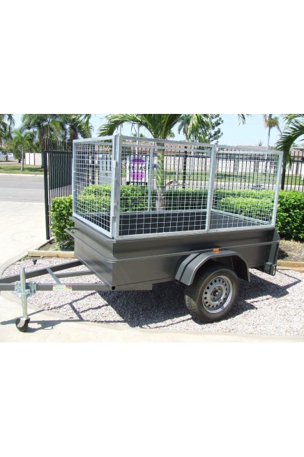 7x4 box trailer with cage