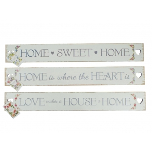 Floral Slogan Heart Cut Out Plaque / S..
