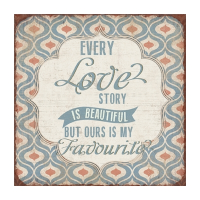 'Every Love Story is Beautiful' Metal Plaque title=