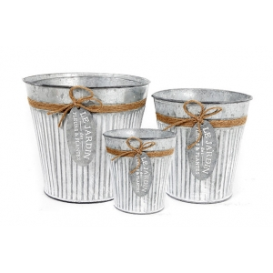 Set of 3 'Le Jardin' Garden Planters