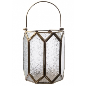 Vintage Style Hurricane Lantern with E..