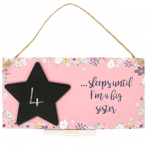 Countdown Chalkboard Plaque - Big Sister