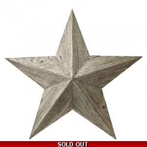 Wooden White Distressed Amish Barn Star