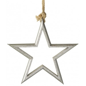 Hanging Sliver Star Decoration