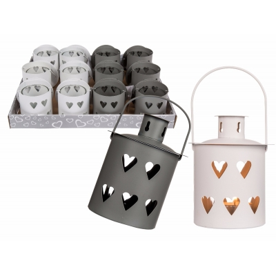 Mini Metal Heart Cut Out Lantern title=