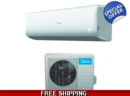 Midea 18000 Btu 21 SEER Super DC Inverter Mini Split Heat Pump AC
