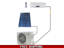 YMGI 18000 BTU 220v Solar Assisted Ductless Heat Pump AC Up To 32 SEER