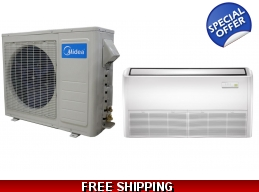 Midea 18000 Btu 21 Seer Universal Mount Mini Split Heat Pump AC