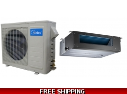 Midea 24000 Btu 16 Seer Slim Ducted Mini Split Heat Pump AC