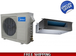 Midea 18000 Btu 21 Seer Slim Ducted Mini Split Heat Pump AC