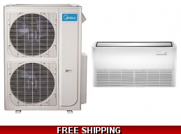 Midea 48000 Btu 18 Seer Universal Mount Mini Split Heat Pump AC