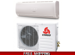 Chigo 9000 Btu 20 Seer 110V Mini Split Heat Pump Air Conditioner