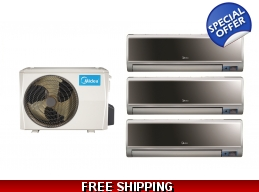 Midea 21 Seer 3x9000btu Vertu 3 Zone Mini Split ..