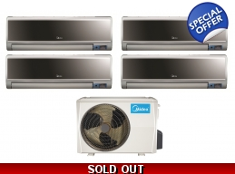 Midea 21 Seer 4x12000btu Vertu 4 Zone Mini Split..