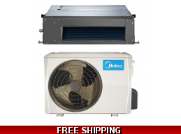 Midea 9000 BTU 19 SEER Ducted Mini Split Hyper Heat Pump AC