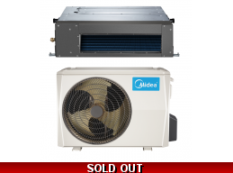 Midea 18000 BTU 19.6 SEER Ducted Mini Split Hyper Heat Pump AC