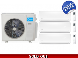 Midea 21 Seer 3x12000btu 3 Zone Mini Split Heat Pump AC