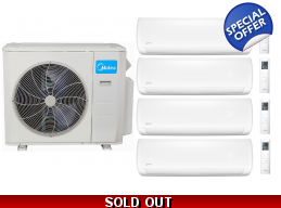 Midea 21 Seer 4x12000btu 4 Zone Mini Split Heat Pump AC