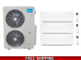 Midea 20.5 Seer 3x18000btu 3 Zone Mini Split Heat Pump AC