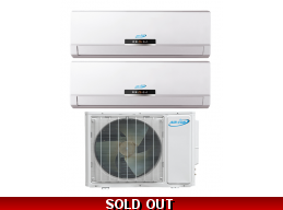 AirCon 16 Seer 2x9000btu Dual Zone Mini Split Heat Pump AC
